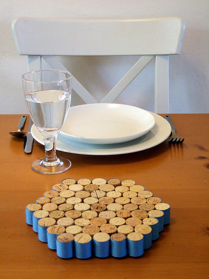 Decor of wine stoppers