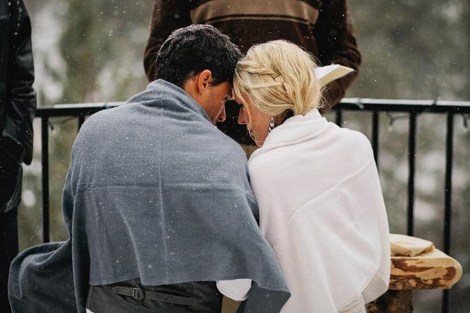 Фотографии зимней свадьбы