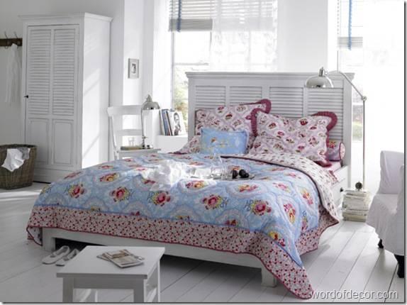 Интерьер белой спальни