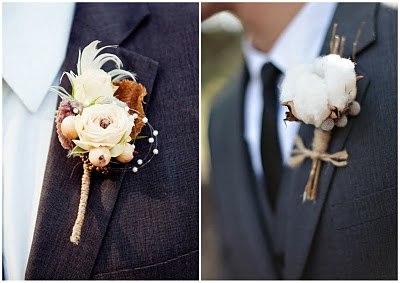 Свадебные бутоньерки...