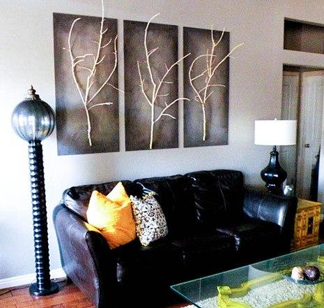 Картины для домашнего интерьера своими руками