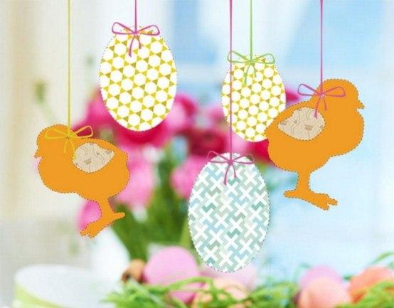 Бумажные поделки из яиц