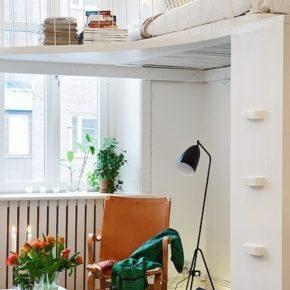 Идея для маленькой спальни: кровать-чердак