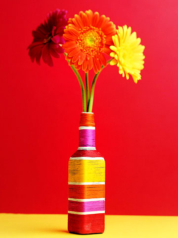 a vase from a bottle with your own hands
