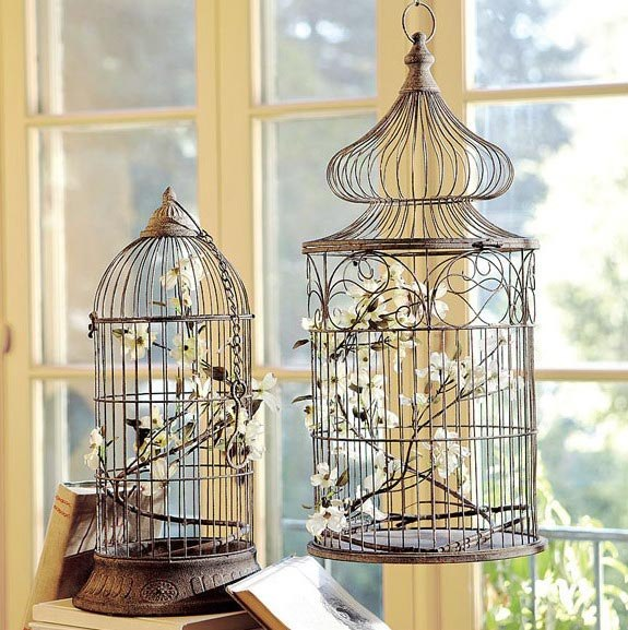 cage for birds - an element of decor