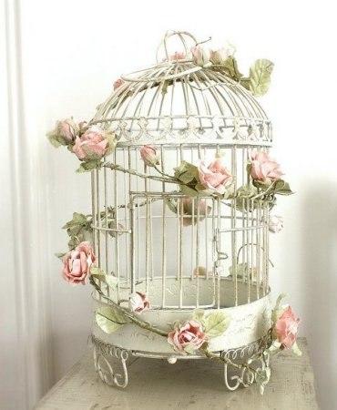 клетка для птиц - элемент декора
