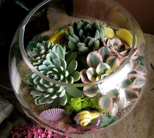 Цветок в стекле своими руками