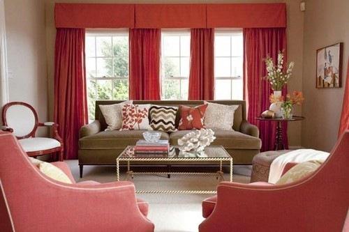 Дизайн интерьера в красном цвете