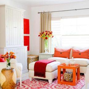 Оранжевый цвет в интерьере дома
