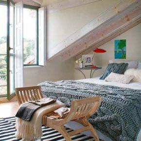Спальня в мансарде - уют и функциональность