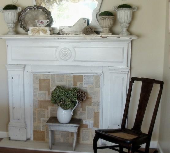 False fireplace in the interior