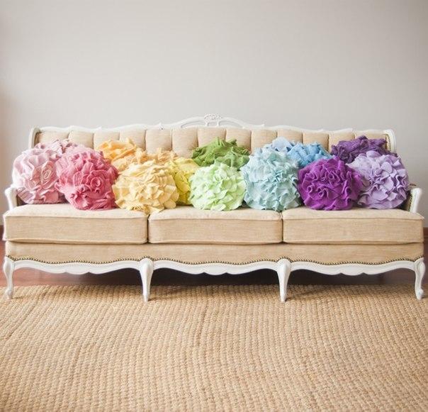 Декоративная подушка для дивана своими руками