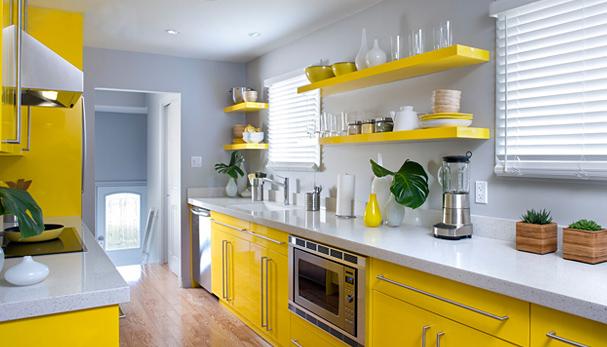 Кухни желтого цвета фото в интерьере