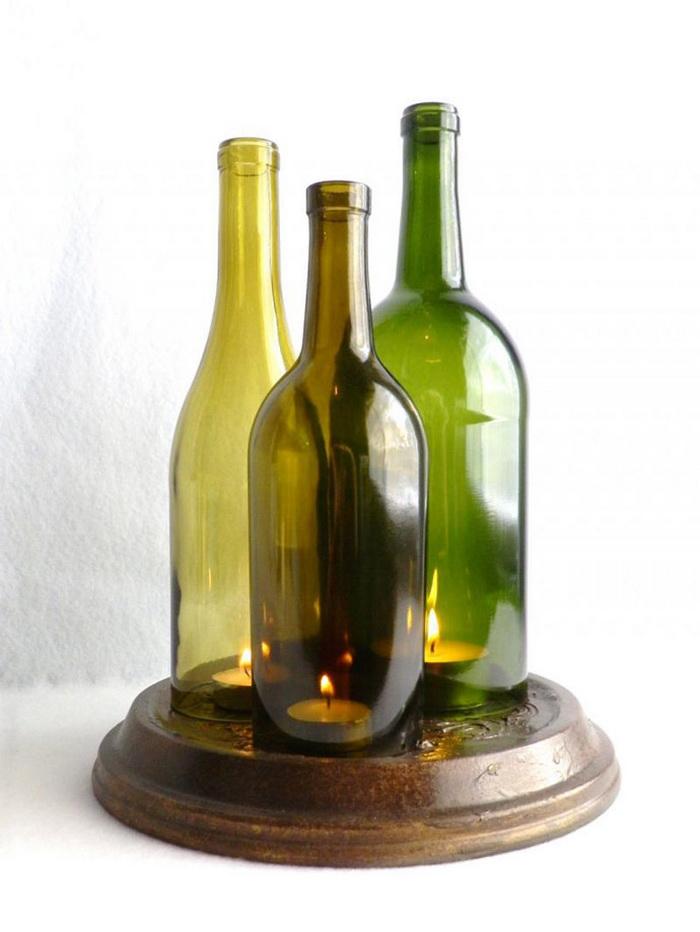 Деревянное дорожКоробочка из бутылПоделки для интерьера в
