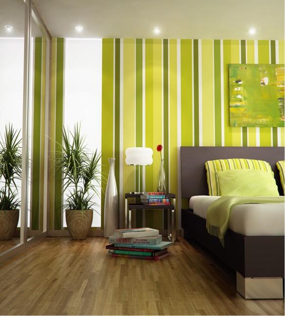 Зеленый цвет в интерьре