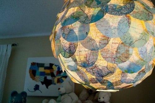 Карта мира в интерьере фото 20
