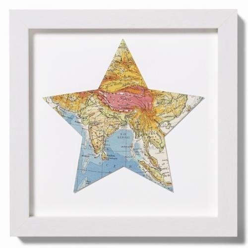 Карта мира в интерьере фото 27