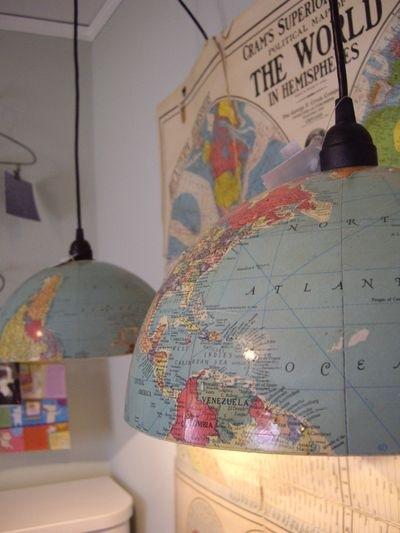 Карта мира в интерьере фото 10