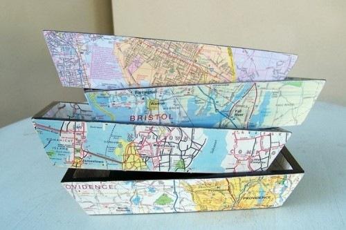 Карта мира в интерьере фото 11