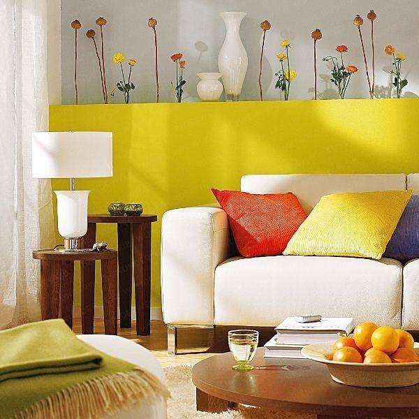 Яркие цвета в интерьере