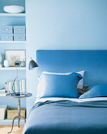 Синий цвет в интерьре