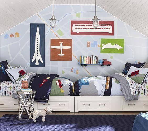 Детская комната для двоих детей фото 06