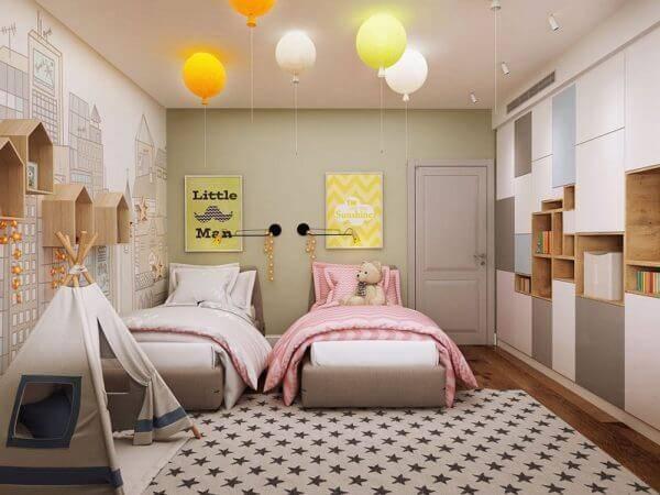 Детская комната для двоих детей фото 15
