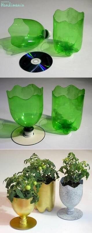 Поделки из пластиковых бутылок фото 21