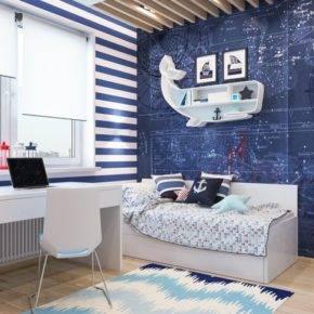 детская комната для мальчика фото 01