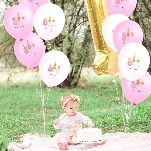 baby birthday unicorns photo 2
