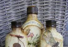 декупаж бутылок фото 47