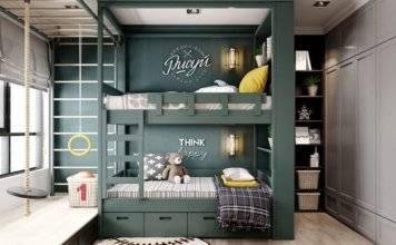 детская комната для двух мальчиков фото 005
