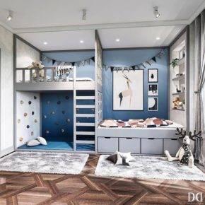 детская комната для двух мальчиков фото 054