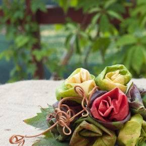 поделки из листьев фото 002