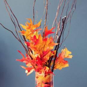 поделки из листьев фото 009