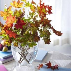 поделки из листьев фото 015