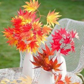 поделки из листьев фото 020