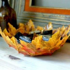 поделки из листьев фото 029