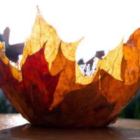 поделки из листьев фото 032