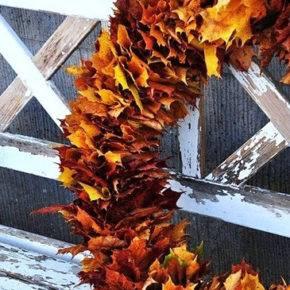 поделки из листьев фото 034