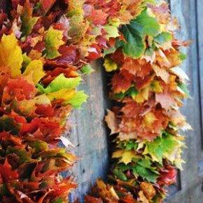 поделки из листьев фото 035