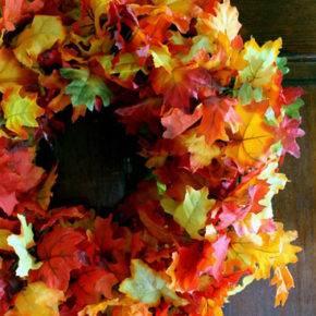 поделки из листьев фото 037