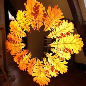 поделки из листьев фото 038