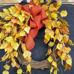 поделки из листьев фото 039