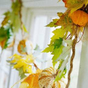 поделки из листьев фото 047
