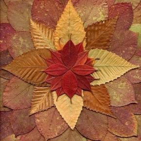 поделки из листьев фото 048