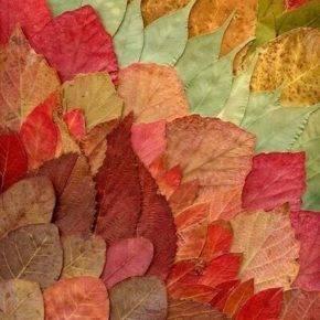 поделки из листьев фото 050