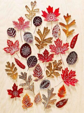 Поделки из листьев ❥ 75+ оригинальных идей поделок из осенних листьев