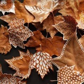 поделки из листьев фото 055