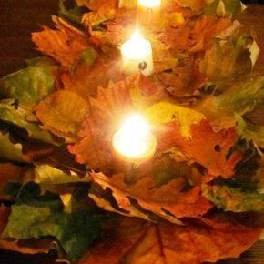 поделки из листьев фото 060